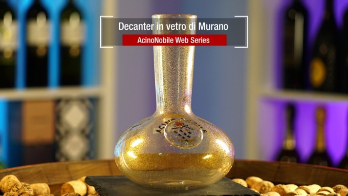 Decanter in vetro di Murano