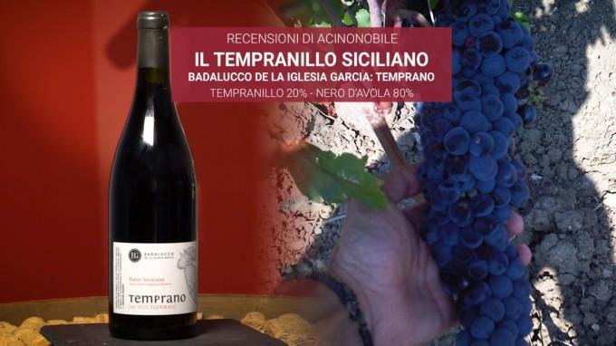 Temprano Badalucco: il tempranillo siciliano