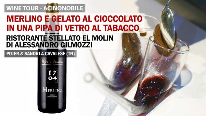 Pojer e Sandri | Merlino e Gelato al Cioccolato Servito in Pipa di Vetro al Tabacco