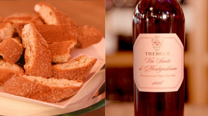 VinSanto di Montepulciano Tre Rose con Cantucci toscani