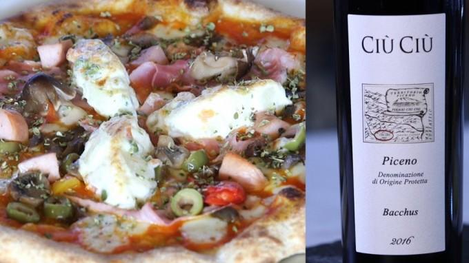 Pizza Gourmet Speciale 1972 e Rosso Piceno Ciù Ciù